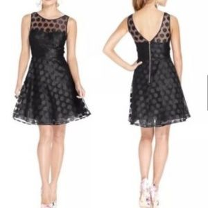 Betsey Johnson Black Fit and Flare Party Dress
